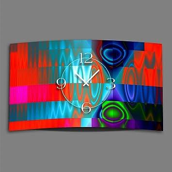 DIXTIME Digital Tipo Techno Diseñador Reloj de Pared Moderno Relojes de Pared Diseño Silencioso sin Tic TAC 3DS de 0256: Amazon.es: Juguetes y juegos