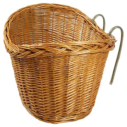 Wicker Pet Bicycle Basket (Wicker Basket Bicycle Front Storage For Dog Travelling Shopping)