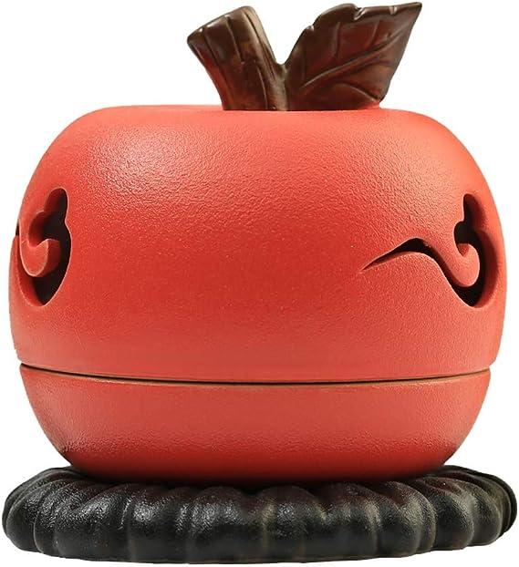 芳香器・アロマバーナー 仏アップル香炉のためのクリエイティブ香炉陶器サンダルウッド香炉ホーム屋内茶道デコレーション アロマバーナー芳香器