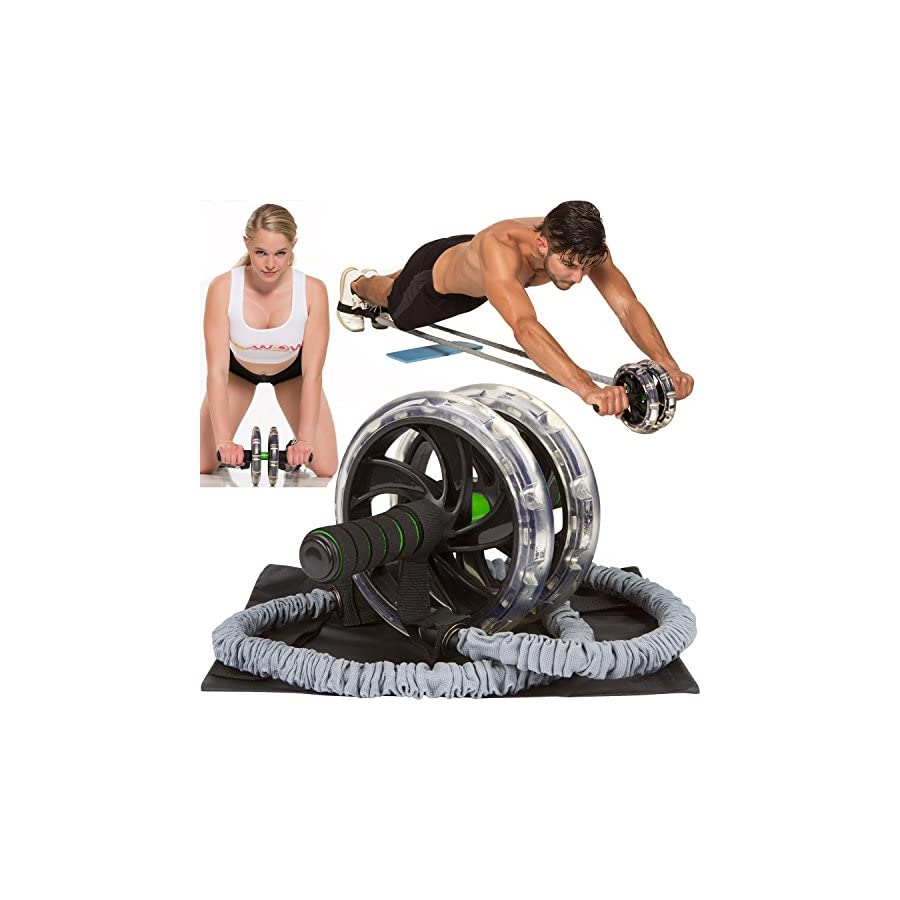 AB WOW 3000 Abdominal Workout Wheel Roller | Sculpt 3Xs Faster Abs, Shoulders, Arms with Abdominal Exercise Equipment Trainer, Ab Roller Supports up to 500lbs