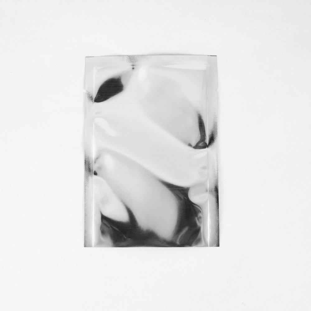 """1.9x3.1/"""" 100 White Aluminum Foil Open Top Bags w// Tear Notches 5x8cm"""