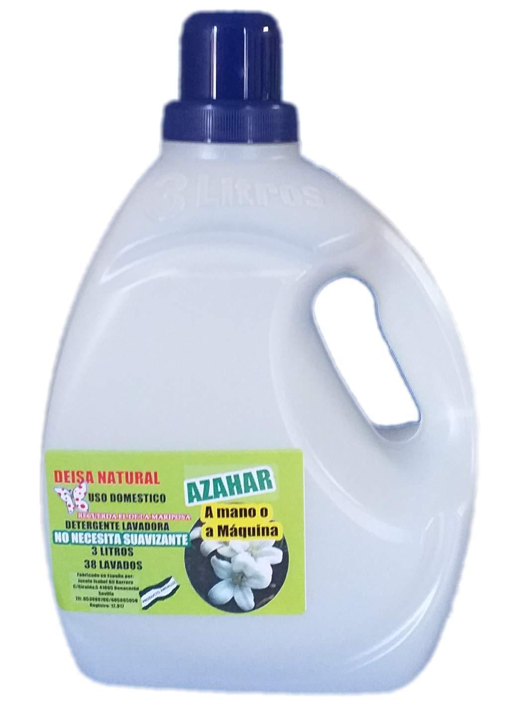 DEISA NATURAL DETERGENTE Natural Lavadora AZAHAR 3 litros. 38 ...