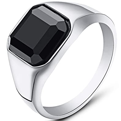 Amazon.com: WFF - Anillo de acero inoxidable con sello de ...