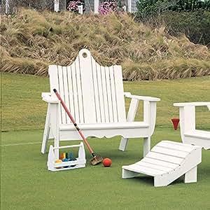 Uwharrie Chair Company Bridgehampton Adirondack Two-Seater - Pine - Sunshine Yellow