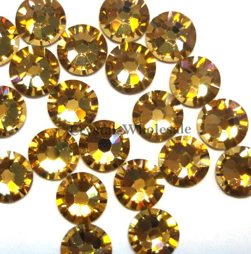 144 pcs Light Colorado Topaz (246) Swarovski 2058 Xilion / NEW 2088 Xirius 16ss Flat backs Rhinestones 4mm ss16 (Topaz Colorado Crystal)