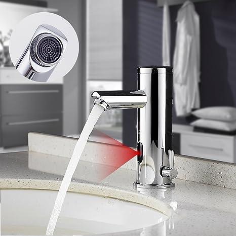 Auralum Verchromter Wasserhahn mit Infrarot Sensor fürs Bad ...