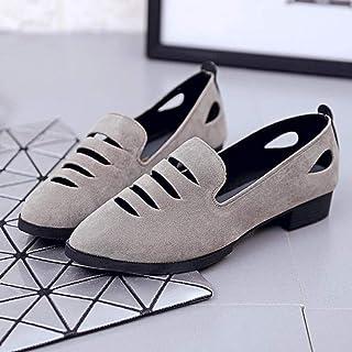 YOPAIYA Chaussures De Pêcheur Mode Gris Chaussures Plates Femme Sandales Mocassins Creux Casual Femme Paresseux Mocassins Slip on Ladies Flats Printemps Eté