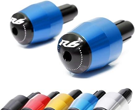 CNC Bar End Sliders Handlebar Grip Plug Cap For Yamaha YZF-R1 R1 R6 R6S FJR1300