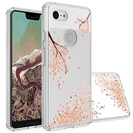 more photos 76563 d0f5d Topnow Google Pixel 3 XL Case, Clear Design Plastic Hard Back Case with TPU  Bumper Protective Case Cover for Google Pixel 3 XL -Falling Plum