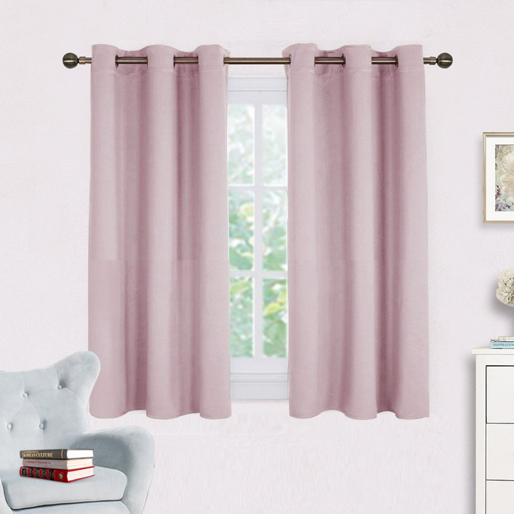 Blackout Curtain Panels for Girls Room - NICETOWN Baby Pink