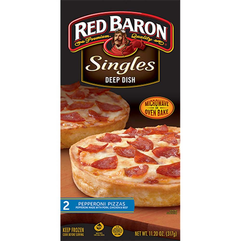 Red Baron Deep Dish Single Pepperoni Pizza, 12 Ounce - 12 per case.