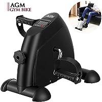 AGM Mini Bicicleta Estáticas, Máquinas de piernas, Ejercitador de Pedal para Entrenamiento de Brazos y Piernas