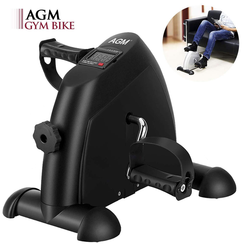 AGM Pedales Estaticos, Mini Bicicleta Estáticas, Ejercitador de Pedales, Máquinas de piernas para