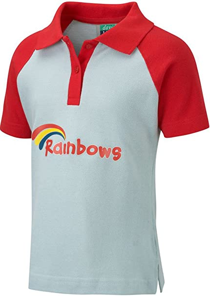 Official Girls Rainbows School Uniform Polo T Shirt Top Pack Of 2 Size XS-XL