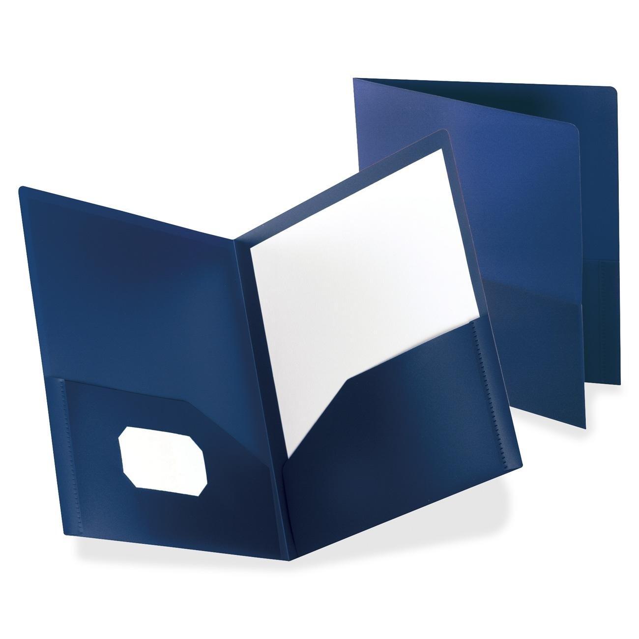 Amazon.com : Oxford Poly Twin Pocket Folders, Letter Size, Dark ...