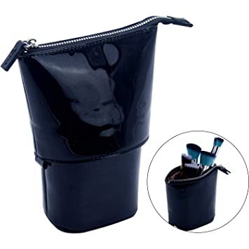 db221084c0a6 Image Unavailable. Image not available for. Color  Makeup Brushes Organizer  Holder Bag Stand Up Design Pencil Pouch Case Travel Cosmetic ...