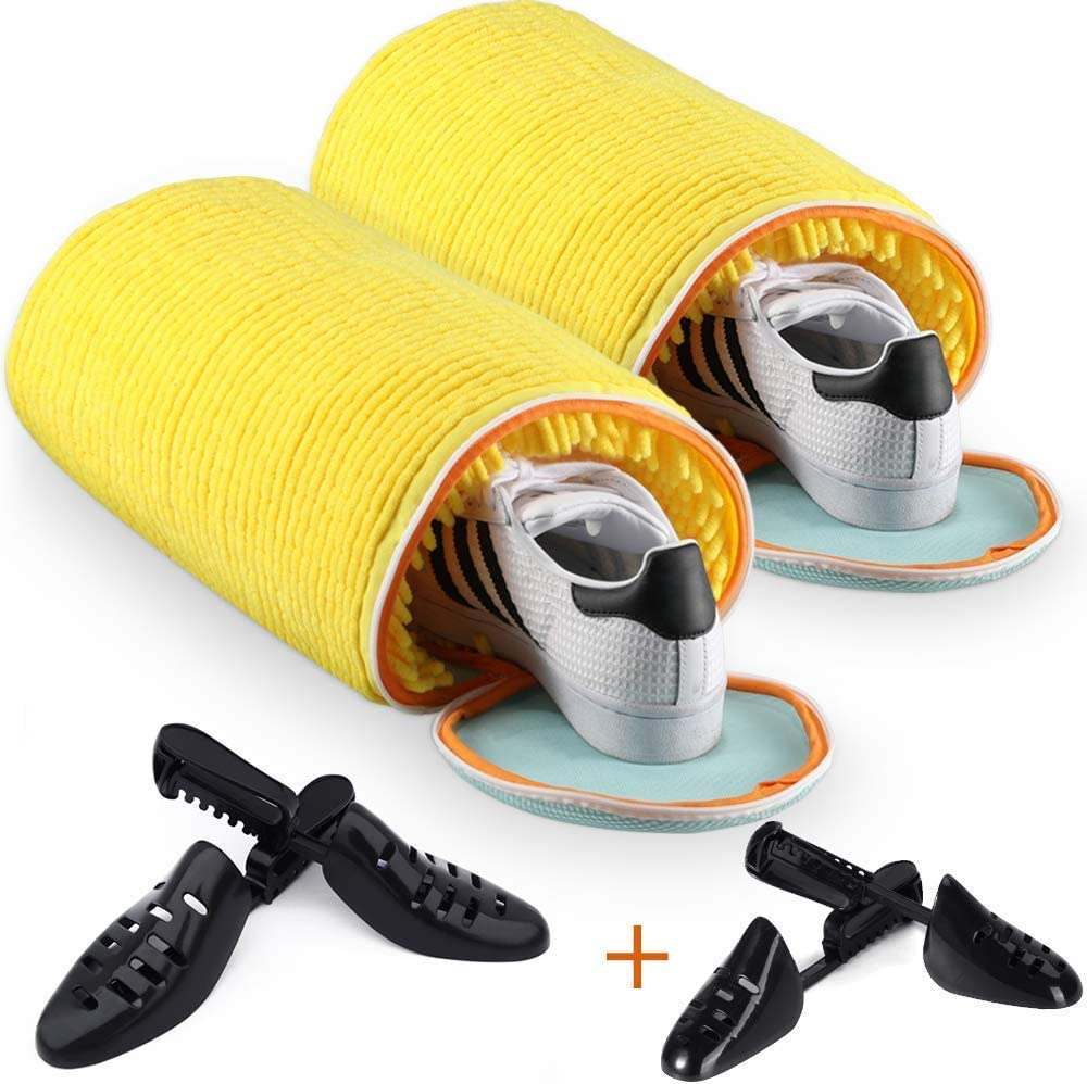 Teletrogy Shoes Laundry Bag Shoe Wash Bag For Washing Machine With Premium Zipper Durable Laundry Bag For Shoes -Sneaker Shoe Cleaner Kit Include Pair of Adjustable Shoe Trees Perfect For Canvas/Sneak