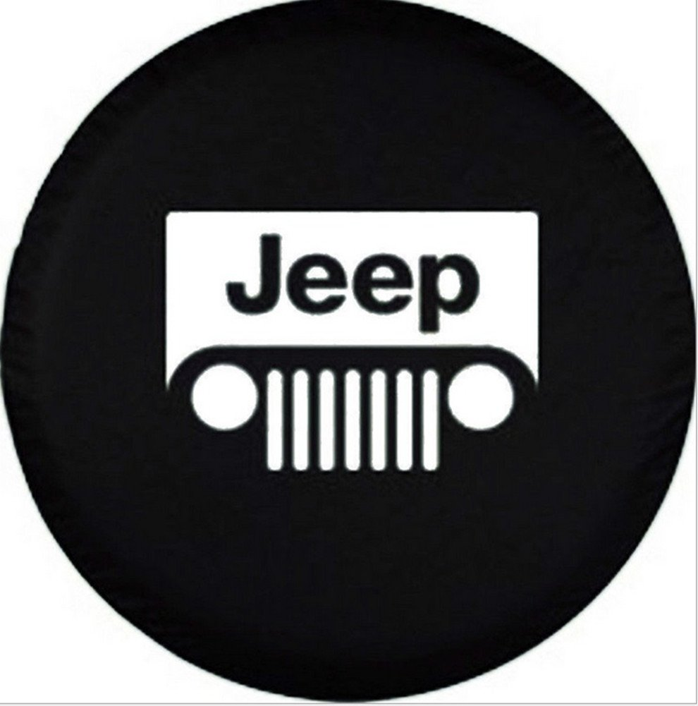 33inches, type2 Automelody 32 33Pvc Leather Spare Tyre Cover Tire Cover Black For Jeep Wrangler