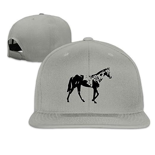 f7b779401ce550 Walking Horse Plain Adjustable Snapback Hats Men's Women's Baseball Caps at  Amazon Men's Clothing store: