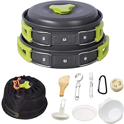 Camping Cookware Mess Kit Backpacking Gear /&Hiking Outdoors Bug Out Bag Cooking
