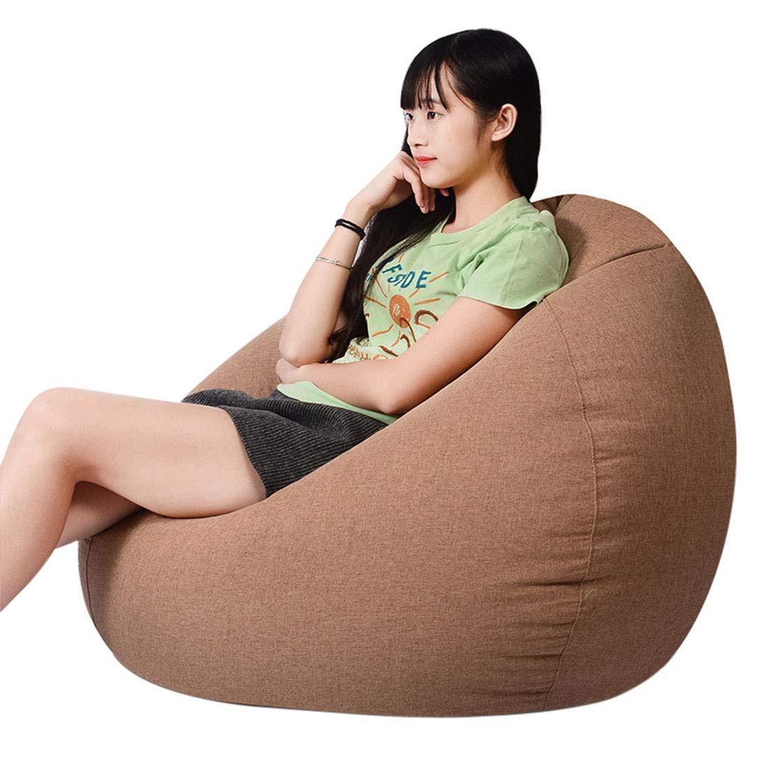 Jiyaru Bean Bag Chair for Kids Adults Lazy Sofa Seat Cushion Washable Beanbag Newspaper S