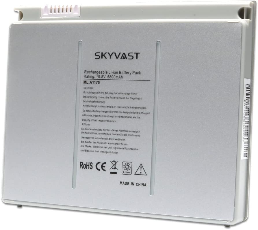 Skyvast A1175 A1150 A1211 A1226 A1260 MacBook Battery for Apple MacBook Pro 15