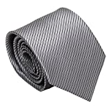 GRSHOW Men's Business Formal Occasions Wedding Necktie + Gift Box(grey,color)