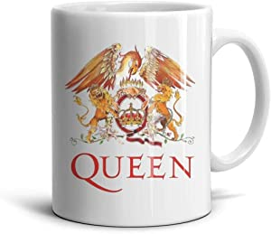 Ceramic Queen-Rock-Band-Logo- Mug Funny Coffee Cups Tea Office Porcelain Mugs White