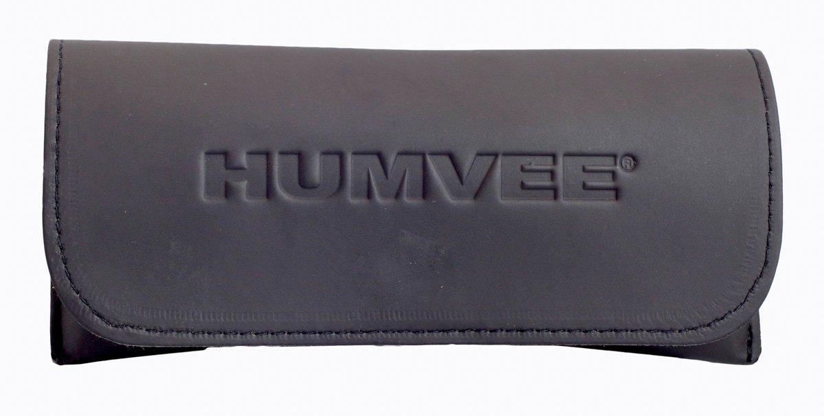 HUMVEE HMV-52B-SILVR Polarized Bayonette Style Military Sunglasses with Gray Lenses and Chrome Silver Frame, 52mm