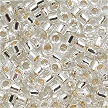 Miyuki Delica Seed Beads 10/0 Silver Lined Crystal DBM0041 8 Grams