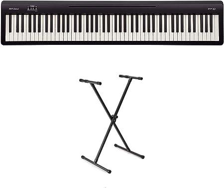 Roland FP-10 - Juego de piano digital y soporte en X (FP10 ...
