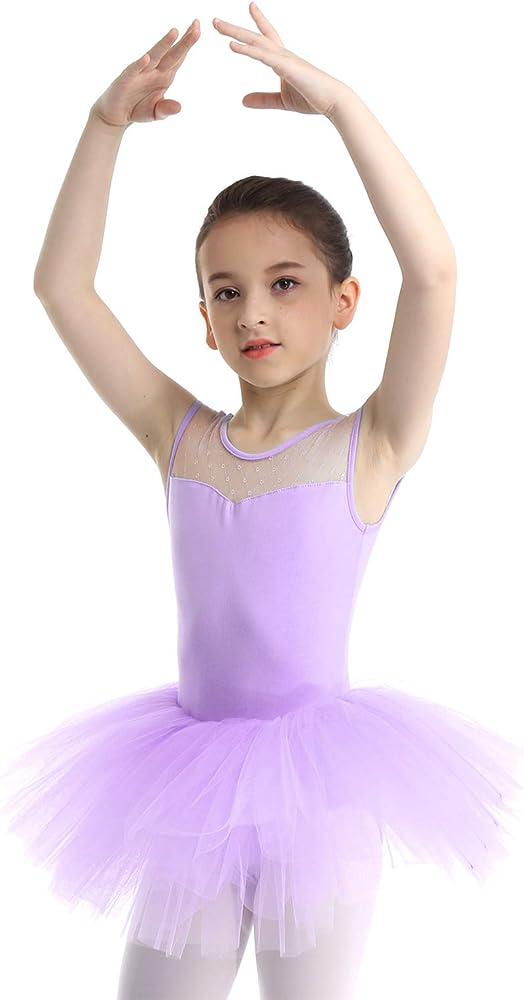 MSemis Maillot de Danza Ballet Pata Niñas Vestido Tutú Bailarina ...
