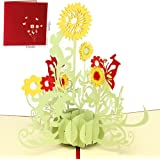 Paper Spiritz 3D Pop Up Greeting Cards Sunflower Birthday Valentine Anniversary Mothers Fathers Day Christmas Thanksgiving Thank You