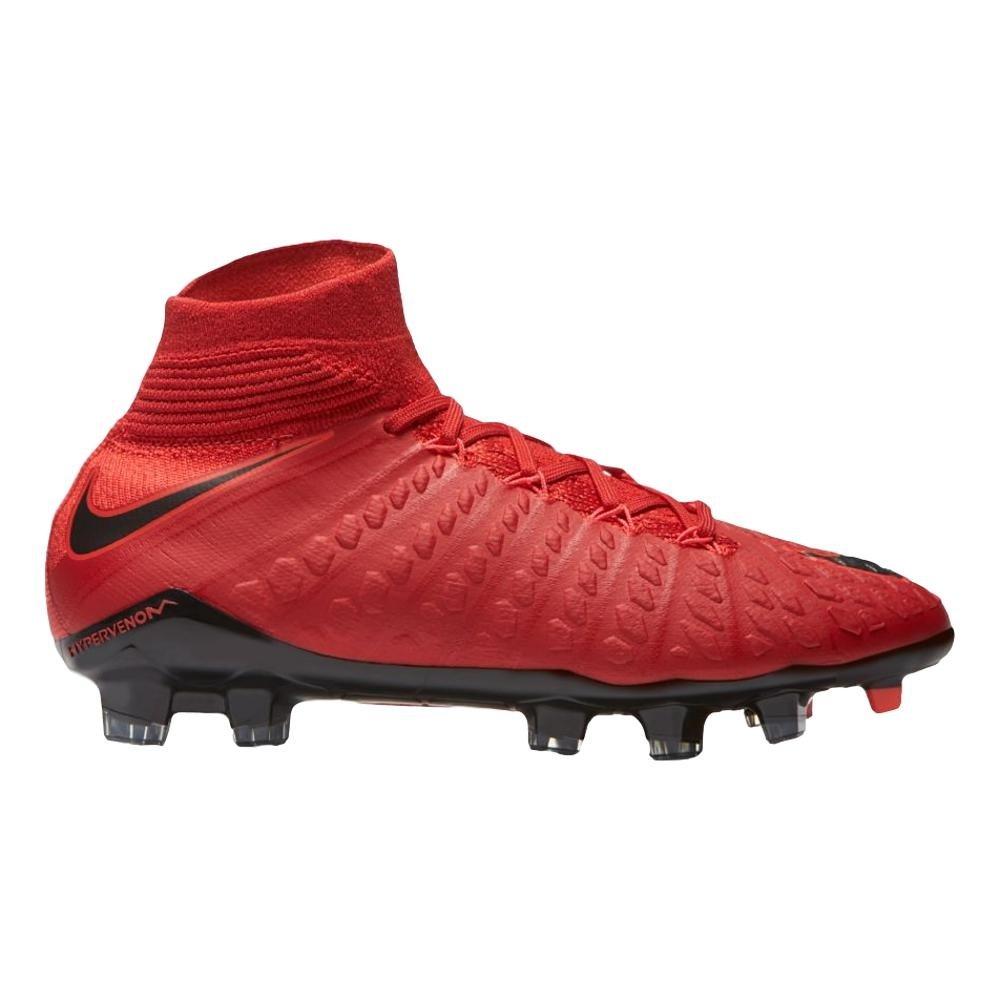 Nike Youth Hypervenom Phantom III DF FG Cleats [University Red] (5Y) by NIKE