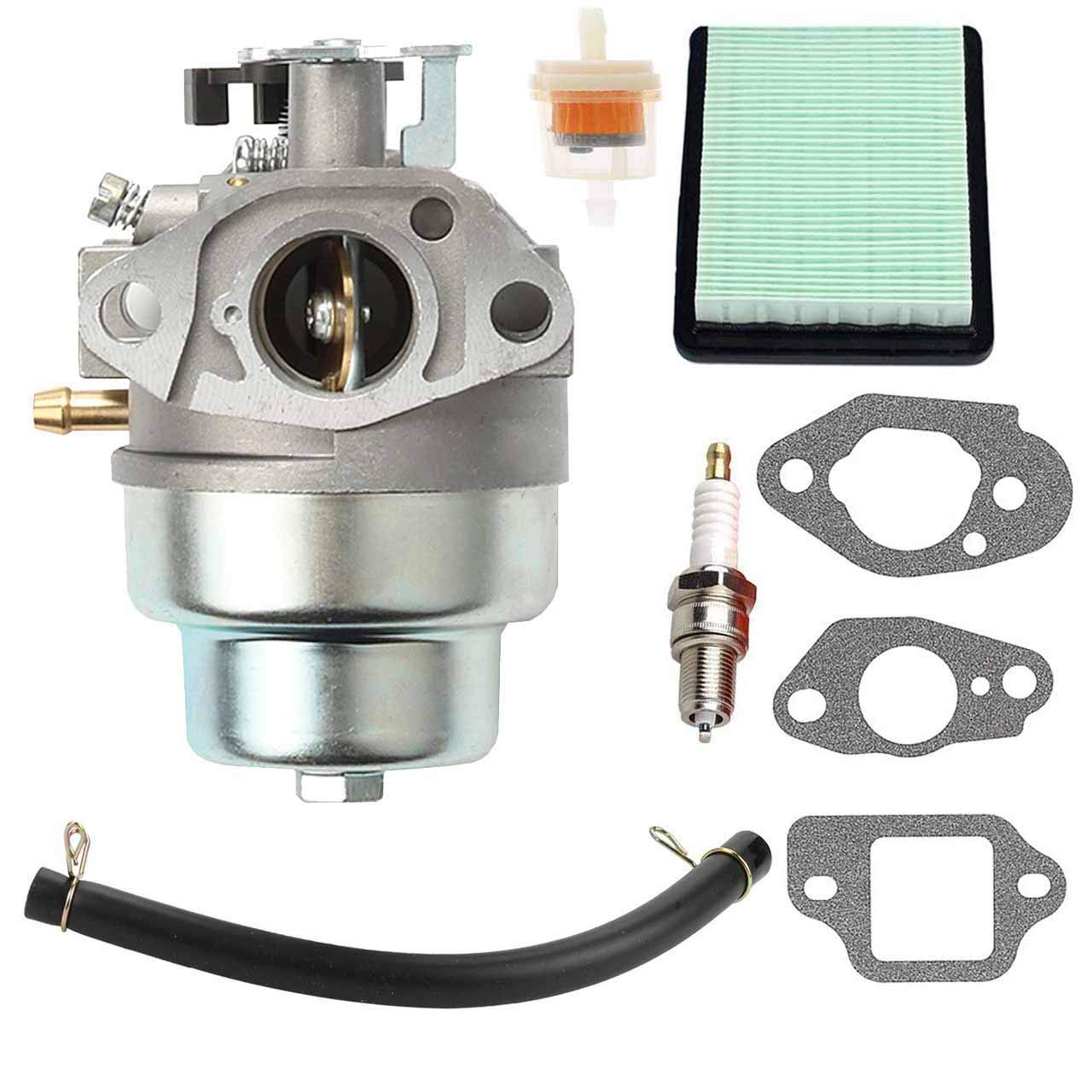 New GCV160 Carburetor + Air Filter Spark Plug for Honda GCV160 Engine HRB216 HRR216 HRS216 HRT216 HRZ216 Lawn Mower by FYIYI