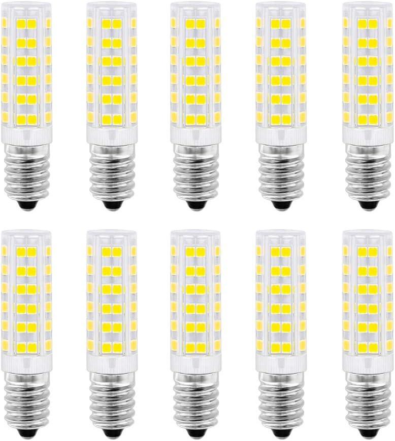 Ampoule LED E14, 5W, 50W, blanc froid 6000K pour hotte aspirante, 500 lumens, AC220 230V, non dimmable, petite ampoule Edison à vis 2835SMD, 10 packs