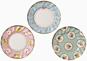 Talking Tables Frills & Frosting Disposable Plates, 12 count, for a Tea Party