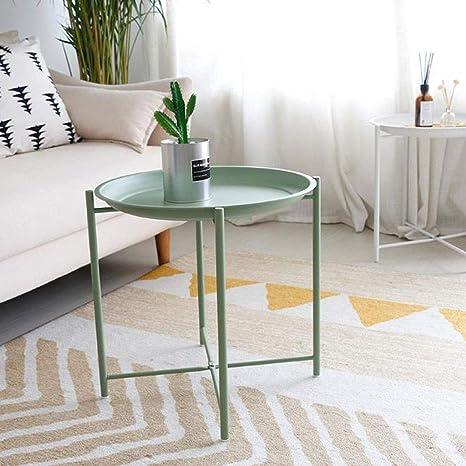 Amazon.com: L-Life - Mesa auxiliar de acero inoxidable, mesa ...