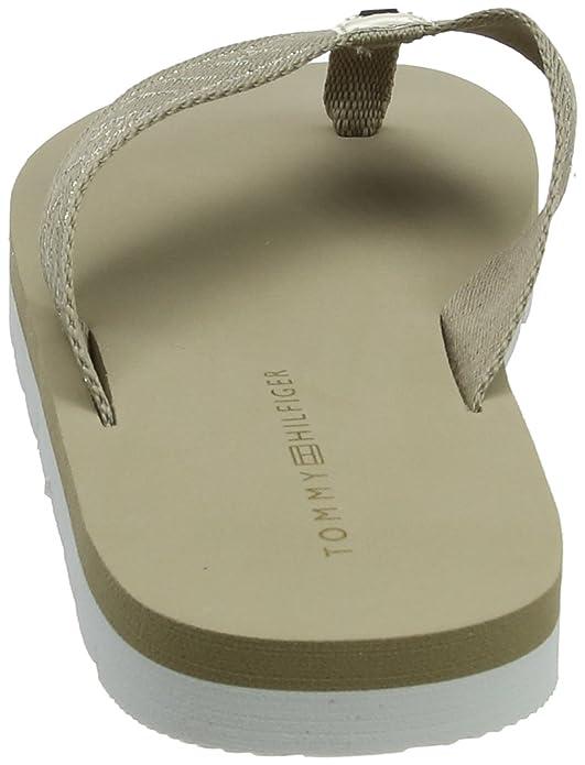 Tommy Hilfiger Damen Flexible Essential Beach Sandal Zehentrenner, Beige (Cobblestone 068), 39 EU