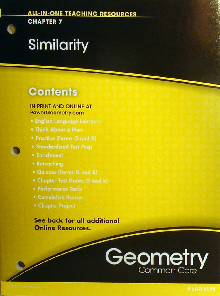 Similarity Chapter 7 (All-In-One Teaching Resources Geometry Common Core) pdf epub