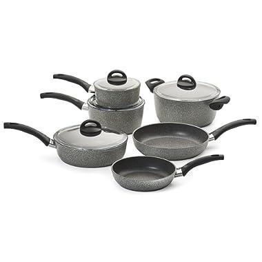 Ballarini 75001-652 Parma Forged Aluminum Nonstick Cookware Set 10-piece Granite