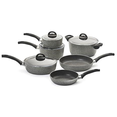 Ballarini 75001 652 Parma Forged Aluminum Nonstick Cookware Set 10 Piece Granite