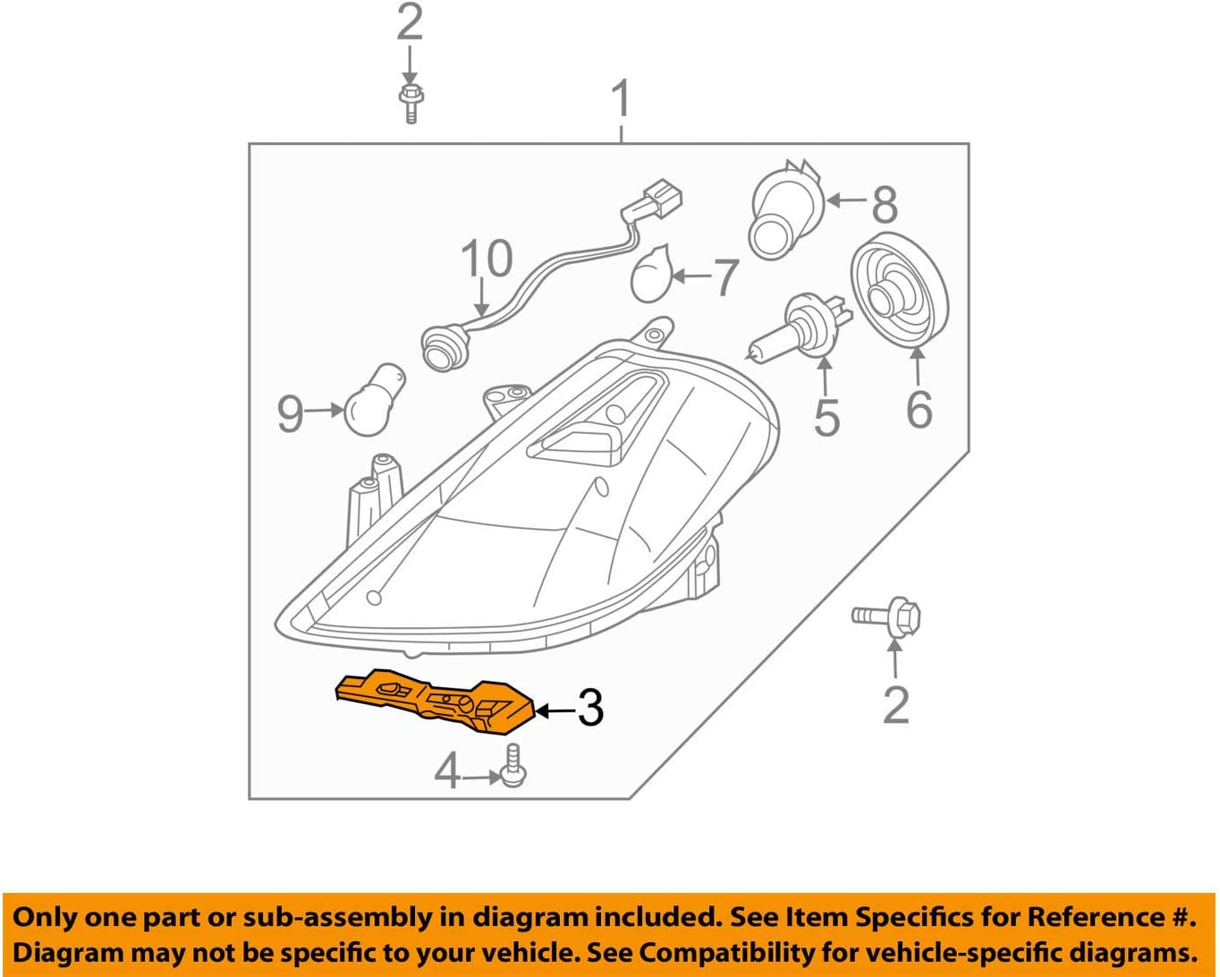 Genuine Nissan Parts 62224-EM30A Front Right Bumper Support