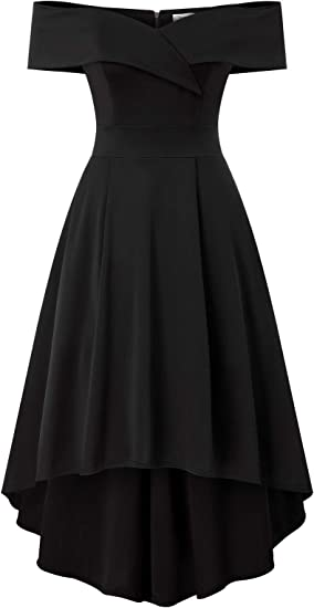Jasambac Women S Off Shoulder High Low A Line Wedding Guest Party Cocktail Dress Amazon Ca Clothing Accessories
