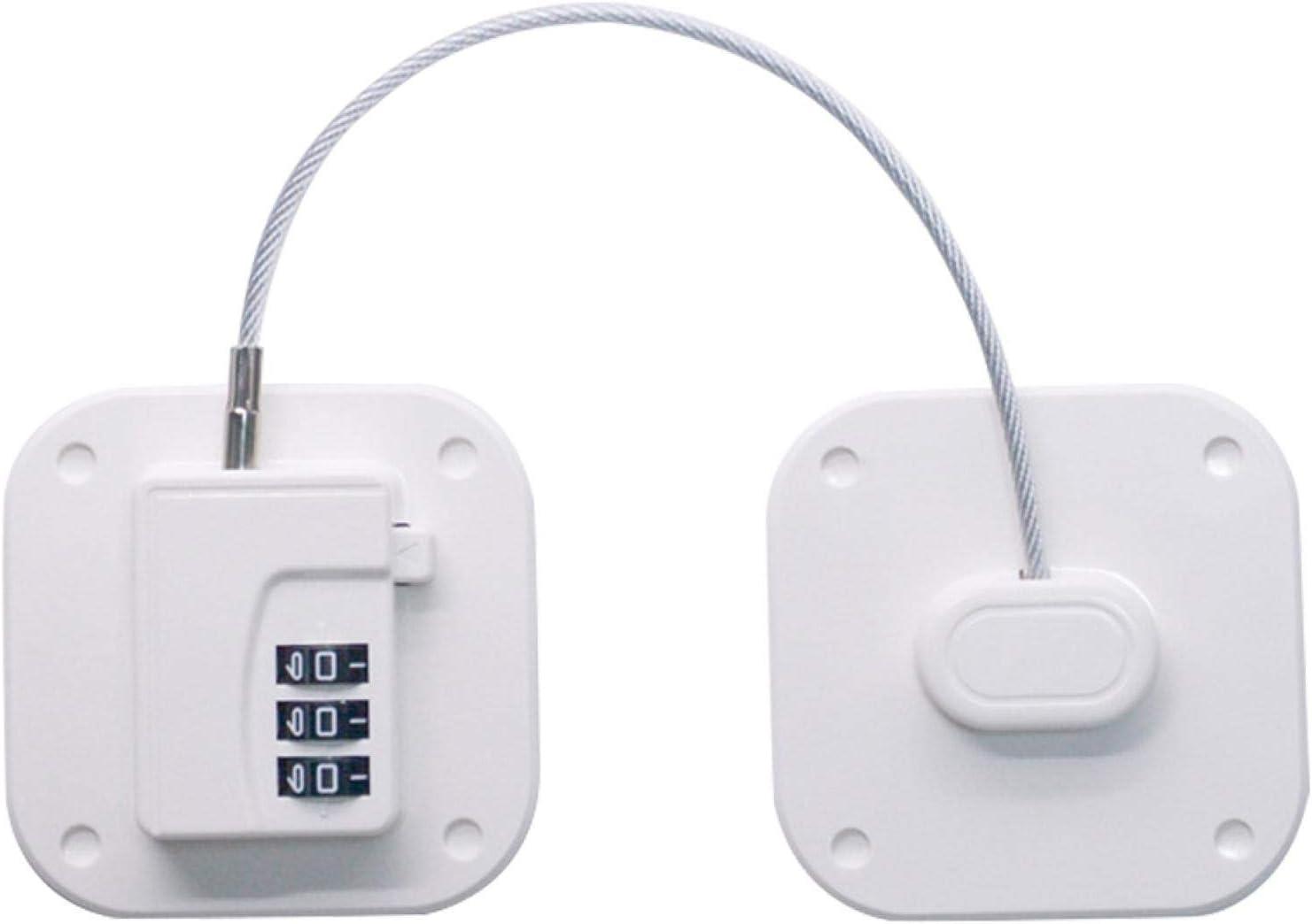 ZDYS - Cerradura para frigorífico con 3 contraseñas digitales para armarios de seguridad para niños con adhesivo fuerte para colocar en la puerta del congelador, cajón