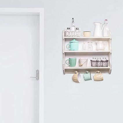 Adesiviamo® 3D Vintage White Wooden Shelves Mensole Bianche Di Legno  Vintage Shabby Chic Wall Sticker