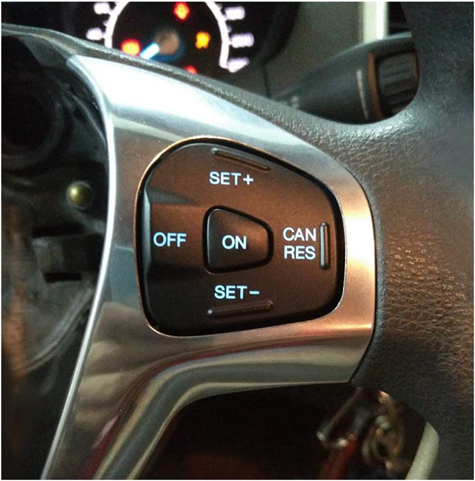Blue backlight Steering Wheel Speed Control Switch Car Cruise Control Button Accessories for Fiesta mk7 mk8 ST Ecosport 2013