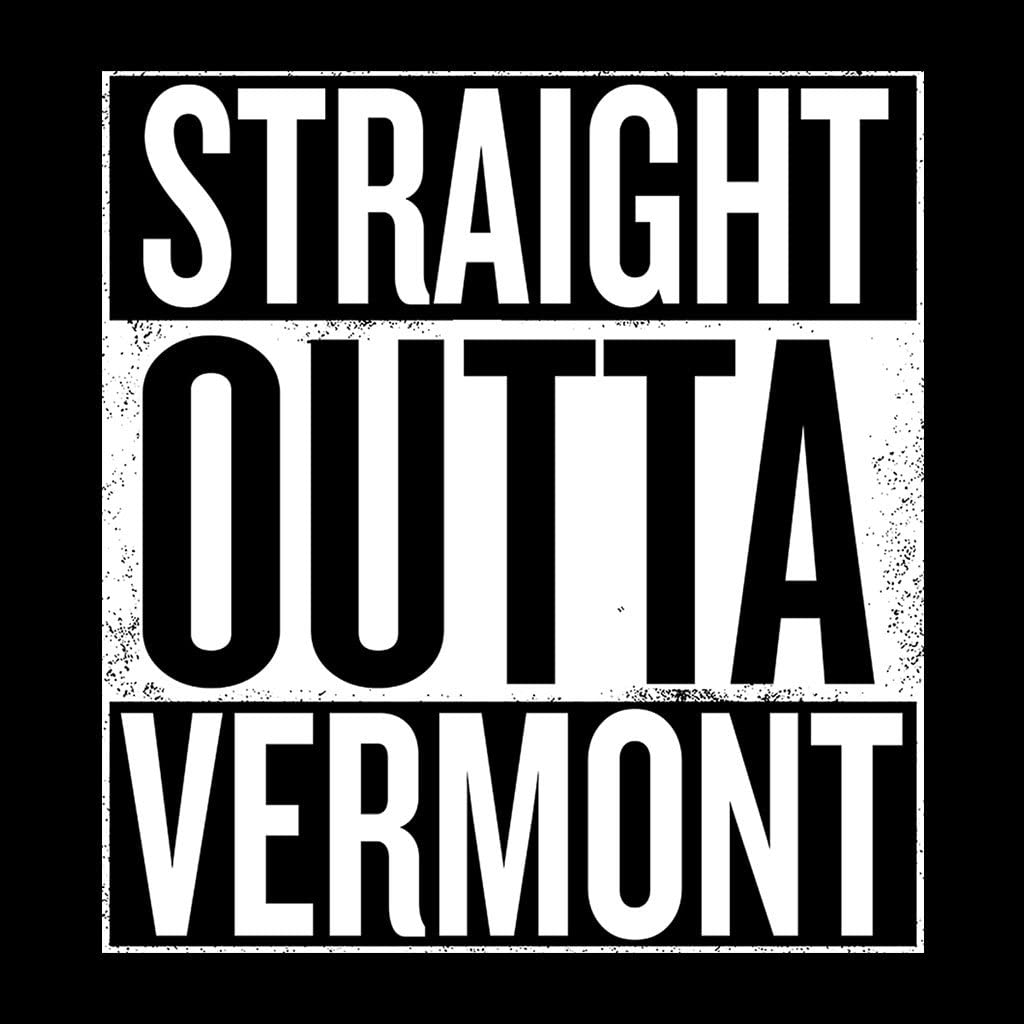 Coto7 White Text Straight Outta Vermont US States Kids Sweatshirt