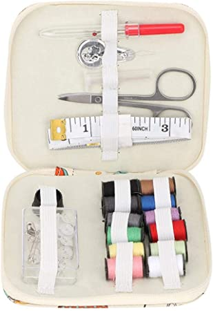 Mootea Kit de caja de coser cuadrada portátil Aguja de almacenamiento Enhebrador de hilo Tijera Medida Herramienta de costura(#2): Amazon.es: Hogar