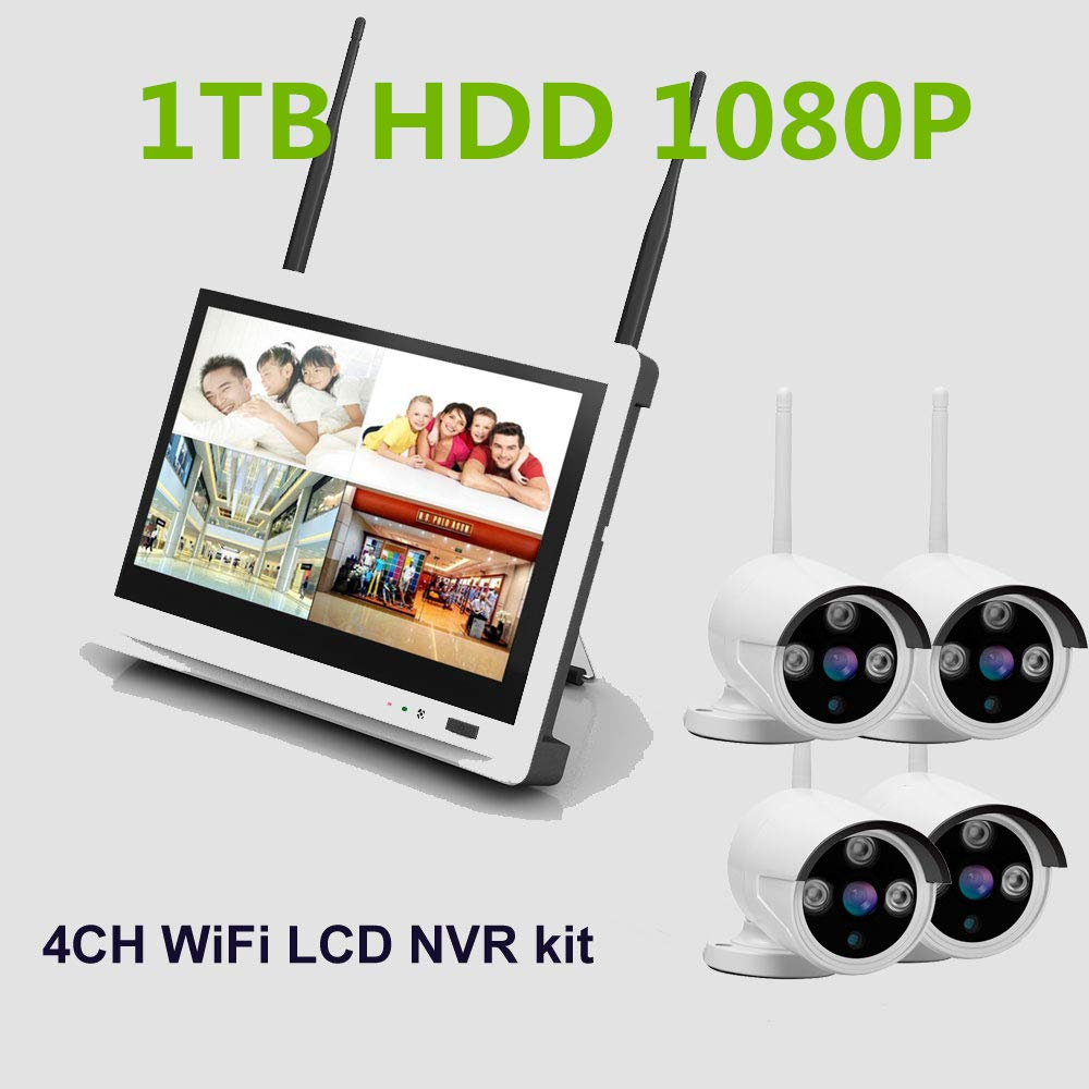 4ch 1MP / 1.3 / MP / 2MP 720 P / 960 P / 1080 P al aire libre día noche wifi sistema de kit de cámara IP wifi sistema inalámbrico DVR ...